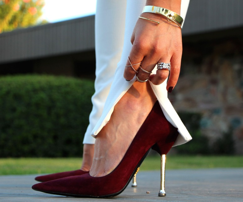 Oxblood Prada Pumps