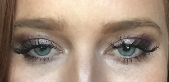 Smokey eye done completely with eye shadow (no eye liner)