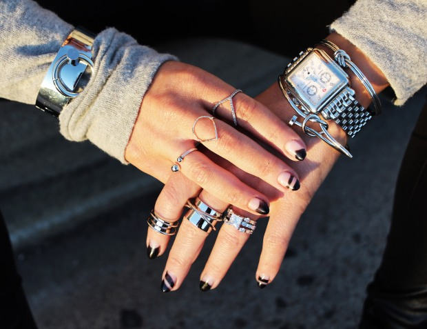 The Haute Pursuit Bound Cuff Bracelet, Anarchy Street Rings, Michele Watch
