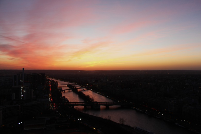 The Sunset Over River Seine