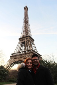 Us In Front Of Eiffel tower